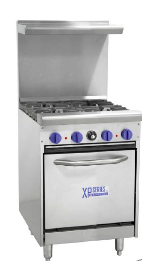 BAKERSPRIDE GAS OVEN WITH 4 BURNER STOVE