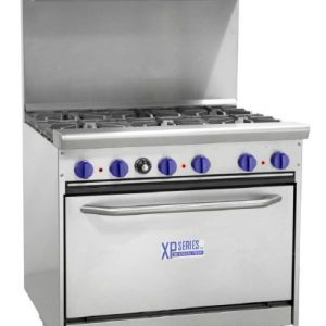 BAKERSPRIDE GAS OVEN WITH 6 BURNER STOVE